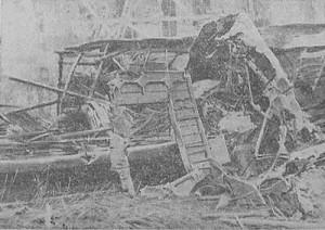 Flugzeugabsturz an der Lutherkirche in Kiel